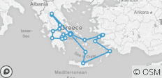 Best of Greece with 4 Day Cruise (13 Days) - 21 destinations