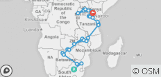 The Big Overlander Northbound - 47 days - 43 destinations