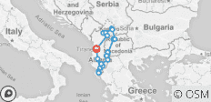 Albania, North Macedonia & Kosovo - 20 destinations