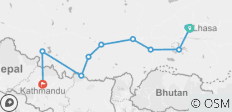 7 Days Lhasa to Kathmandu Overland Small Group Tour - 12 destinations