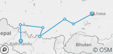 8 Days Kathmandu to Lhasa Overland Trip with EBC Small Group Tour - 10 destinations