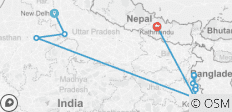 Colorful India & the Ganges River with Kathmandu - 13 destinations