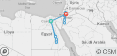 Jordan and Egypt 14 days - 23 destinations