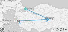 3-Day tour of Cappadocia and Ephesus by Air from Istanbul - 14 destinations