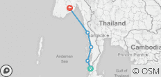 Burma Coastal Voyage (from Kawthaung to Rangoon) - 5 destinations