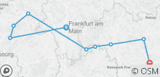 Legends of the Moselle Rhine and Main 2019 (Start Frankfurt, End Nuremberg) - 9 destinations