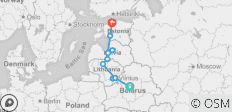 Belarus and Baltics in 11 days - 11 destinations