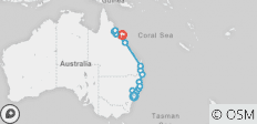 Sydney to Cairns Northbound - 14 destinations