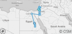 Israel, Jordan and Egypt with Nile Cruise 14 days (from Tel Aviv to Luxor) - 27 destinations