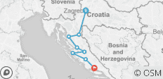 Hiking Croatia\'s Coast & Canyons - 8 destinations