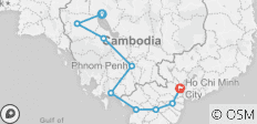 Cycle Siem Reap to Saigon - 16 Days - 9 destinations