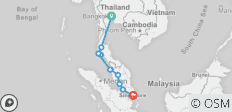 Bangkok to Singapore - 11 destinations