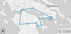 Southern Greece Archeological Walking Holidays; Peloponnese and Delphi - 12 destinations