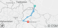 Tour on Silk Road from Tashkurgan China to Islamabad Pakistan - 9 destinations