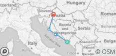A105 Adriatic Highlights Dubrovnik to Zagreb - 5 destinations