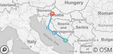 Adriatic Highlights Dubrovnik to Zagreb (A105)  - 5 destinations