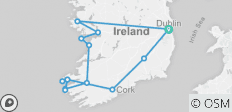10 Day Southern Ireland  Tour - Small Group Tour - 14 destinations