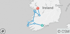 5 Day Wild Atlantic South Ireland  - Small Group Tour - 12 destinations