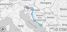 New Year\'s Eve in Croatia and Slovenia - from Dubrovnik to Zagreb and Ljubljana (A070)  - 9 destinations