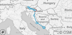 New Year\'s Eve in Croatia - Dubrovnik to Zagreb (A070)  - 10 destinations