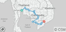 Cycle Bangkok to Ho Chi Minh - 25 destinations