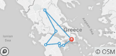 Five Day Classical Tour of Greece: Epidaurus, Nafplio, Olympia, Delphi, Meteora - 8 destinations