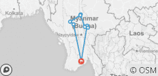 7Days 6Nights Yangon-Inle-Kalaw-Mandalay-Bagan-Mt.Popa-Yangon - 9 destinations