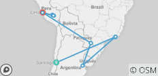 Spirit Of South America With Santiago - 15 destinations
