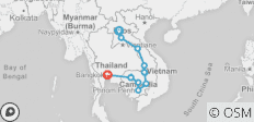 South East Asia Overland (Luang Prabang to Bangkok) - 13 destinations