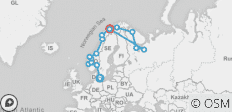 Ultimate Fjords & White Sea 25 Days (from Copenhagen to Tromso) - 15 destinations