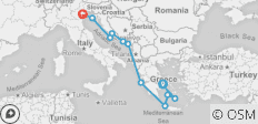 Greek Isles & Dalmatian Discovery 12 Days (12 destinations) - 12 destinations