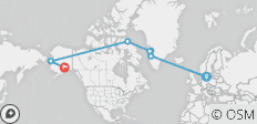 Across the Northwest Passage 24 Days (from Copenhagen to Anchorage) - 7 destinations