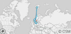Across the Arctic Circle 16 Days (from Copenhagen to Oslo) - 10 destinations