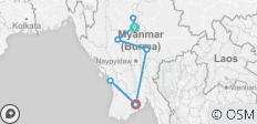 Myanmar with Peace of Mind (15 Days/14 Nights) (from Mandalay to Yangon) - 8 destinations