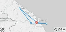 Danang - Hue - Hoian - Bana Golden Bridge  5 Days 4 Nights - 5 destinations