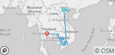 Fascinating Vietnam, Cambodia & the Mekong River with Hanoi, Ha Long Bay & Bangkok – Northbound - 16 destinations