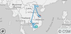 The Heart of Cambodia & Vietnam with Hue & Danang – Northbound - 19 destinations