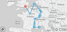 Rhine & Rhône Revealed with 3 Nights Paris & 3 Nights London – Northbound - 30 destinations