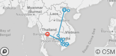 Fascinating Vietnam, Cambodia & the Mekong River with Hanoi, Ha Long Bay & Bangkok – Southbound - 16 destinations