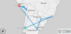 Ultimate South America With Santiago Stopover 2020 - 20 destinations