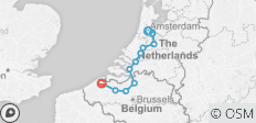 Bike and Barge: Amsterdam to Bruges - 12 destinations
