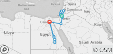 Israel and Egypt in 15 days - 36 destinations