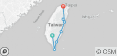 South Taiwan Coast by Road Bike - 8 destinations