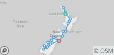 The Big Tiki (Start Auckland, End Christchurch, Summer, 19 Days) - 24 destinations