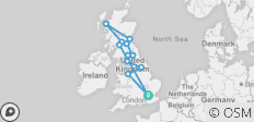 England & Scotland (End Glasgow, Winter, 9 Days) - 12 destinations