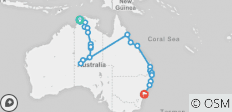 The Big Walkabout with Sailing (from Darwin to Sydney) - 23 destinations