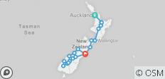 Kiwiana Panorama (Summer, Start Auckland, End Christchurch, 16 Days) - 20 destinations
