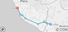 La Paz to Canyon to Lima - 8 destinations
