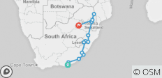 Wild Coast and Kruger from Port Elizabeth to Jozi - 13 destinations
