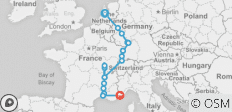 Rhine & Rhone 2021 (Start Amsterdam, End Nice) - 18 destinations
